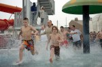 US-military-ploar-bear-swim-at-Camp-Humphreys-South-Korea