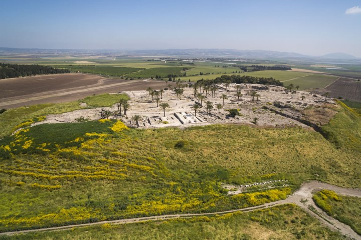 Aerial-view-of-Tel-Megiddo-where-the-Battle-of-Armageddon-will-be-fought