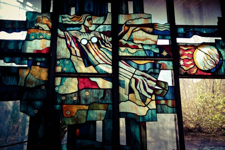 October-2011-Radiance-An-elaborate-glass-artwork-that-adorns-a-waterfront-cafe-in-Pripyat.-Each-panel-is-made-from-hundreds-of-separate-pieces-of-colored-glass